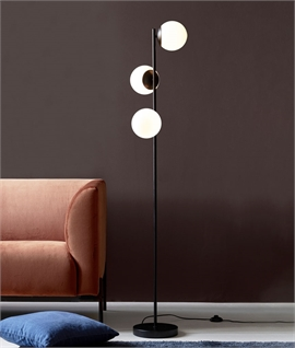 Triple Globe Glass Floor Lamp