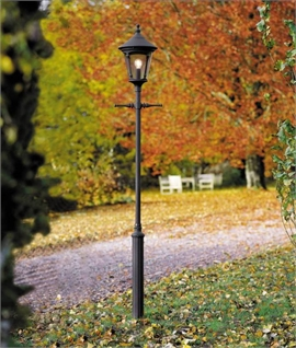 Black Lamp Post with Smoked Acrylic Glass