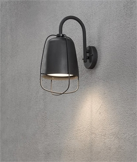 Exterior Caged Wall Light - Vintage Style