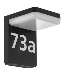Black LED Exterior Wall Light with or without Motion Sensor