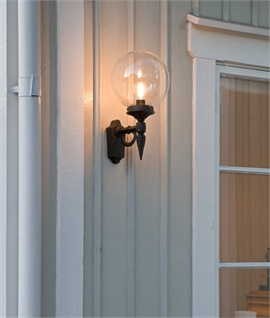 Clear Glass Shade Outdoor Wall Light