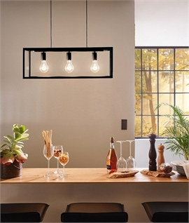 Black Box Frame 3 Light Pendant