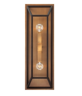 Box Wall Light Black & Bronze