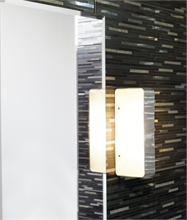 Rectangular Wall Light with Opal Glass