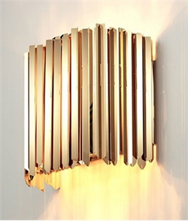 Facet Wall Light - Stainless Steel or Brass