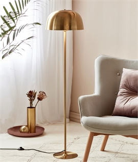 Brass Dome Shade Floor Lamp