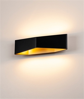 Modern Triangular Up & Down Wall Light - Black or White