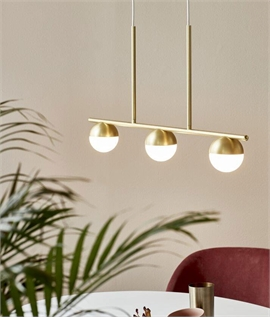 Suspended Bar Pendant with 3 Globe Shades