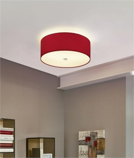 Fabric Shade Semi-Flush Light Height 195mm