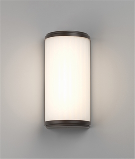 LED Rippled Glass IP44 Wall Light H:250mm