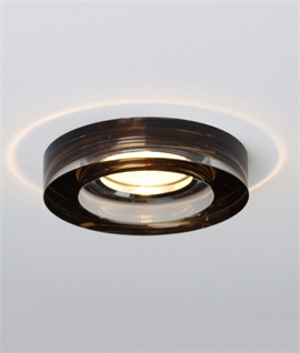 Round Glass Semi-Recessed Downlight 5 Colours