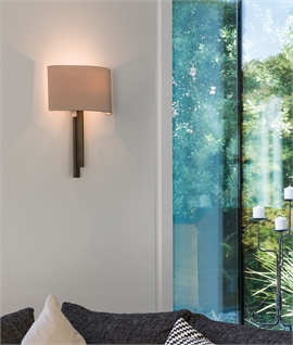 Slim Shallow Profile Wall Light with Shade