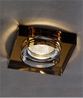 Square Deep Recessed Crystal Glass Downlight