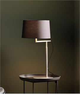 Off-Set Table Lamp - 3 Finishes & 3 Shades