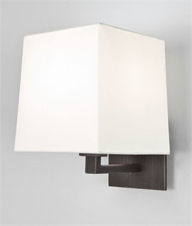 Fixed Wall Bracket Light Choice of Finish & Shade