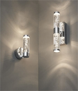 Bathroom Bubble Acrylic Wall Light with LED Lamp - Two Sizes