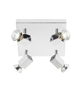 Chrome Plated Four Light Square Plate
