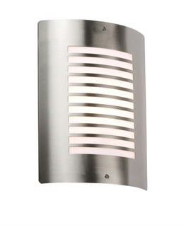 Brushed Stainless Steel IP44 Rated Wall Light