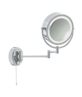 Round IP44 Vanity Mirror for E14 Lamp