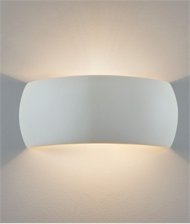 Contoured Wall Washing Lights in Natural Plaster