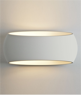 Contoured Wall Washing Light in Natural Plaster