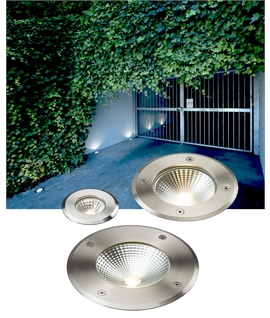 Recessed LED Ground Uplights - Straight To Mains