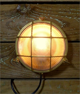 Marine Brass Caged Bulkhead Wall Light