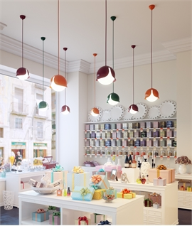 Colourful Light Pendants with Opal Glass Diffusers