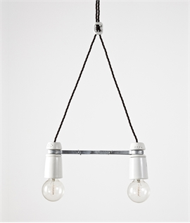 Industrial Styled Double Pendant