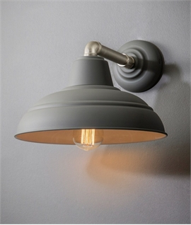 Industrial Dark Grey Canopy Wall Light - Fixed