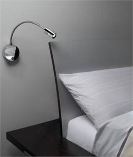 Switched Bedside Reading Light - Adjustable Arm