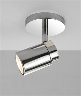 Polished Chrome Single Spot Light - IP44 Rated