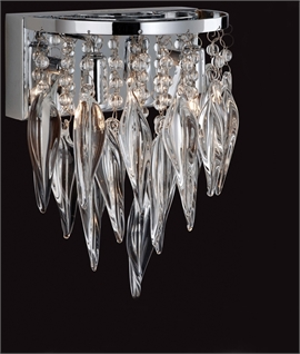 Bejewelled Wall Light - Glass & Chrome
