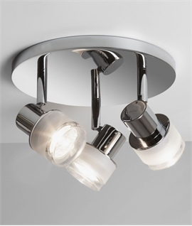 Triple Polished Chrome Adjustable Light IP44 Rated