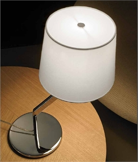 Chrome Off-Set Stem Bedside Lamp