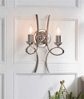 Double Arm Scrolled Wall Light - Modern Styling