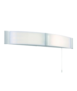 Curved Chrome LED Bathroom Light with Pull Cord