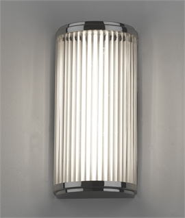 LED IP44 Wall Light with Glass Rods H:250mm