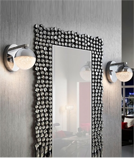 Chrome Ball LED Glitter Wall Light