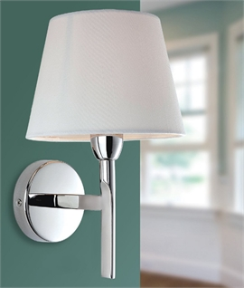 Chrome Wall Light & Choice of Shade
