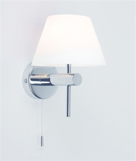 Glass Wall Lights With Pull Cord : Wall Lights With Built-In Switches & Pull Cords Lighting Styles