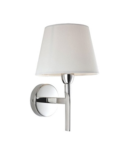 Modern wall light with fabric shades lighting styles chrome wall light choice of shade aloadofball Choice Image