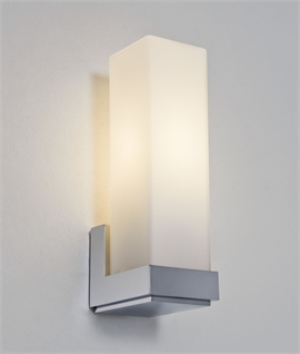 Cubic Opal Bathroom Wall Light IP44 Rated