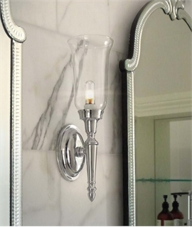 Clear Glass Stylish Bathroom Wall Light IP44