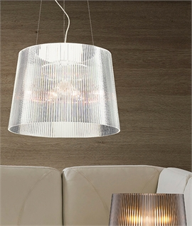 Acrylic Drop Pendant - Reeded Shade Detail