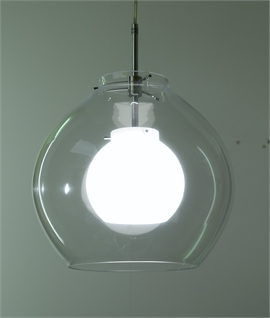 Pikant Clear & Opal Glass Pendant by Belid