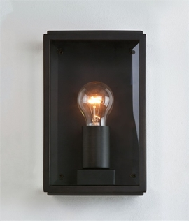 Outdoor Wall Light Clear Glass H:250mm