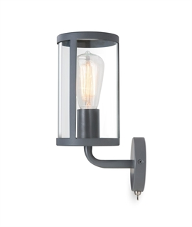 Smokey Fireside Grey Finish Wall Light