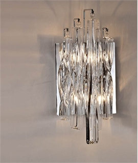 Swirl Crystal Glass Wall Light