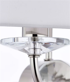 Shaded Crystal Detail Double Wall Light